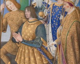 Poster, Many Sizes Available; Jean Bourdichon French Louis Xii Of France Kneeling In Prayer