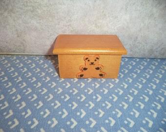 1:12 scale Dollhouse Miniature Teddy Bear toy Box