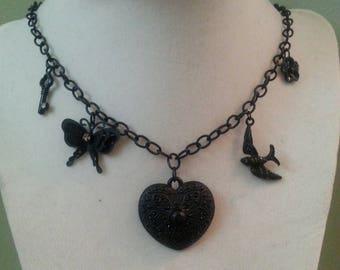 Black Charm Necklace