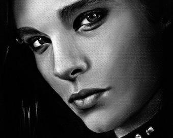 Bill Kaulitz Tokio Hotel  - Art Print, Multiple sizes - 8x10 11x14 16x20 - celebrity portrait, charcoal drawing, musician, billy