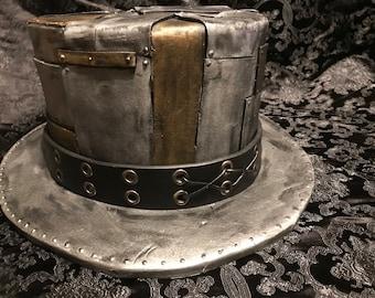 Silver/ Gold Patchwork Steampunk Top Hat