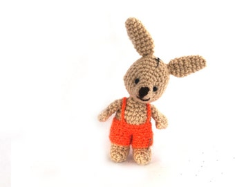 AMIGURUMI BUNNY, Easter decoration, rabbit doll, crocheted miniature rabbit, amigurumi tiny bunny, little bunny doll, home decor for Easter