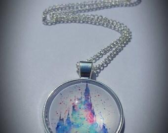 Disney inspired castle necklace