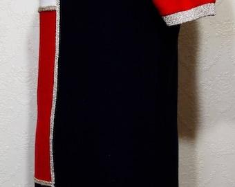 Retro vintage BLOOMINGDALES COLOR BLOCK dress Size Small