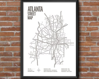 Atlanta Street Map Print — only 9 left! Poster gift for ATL lovers and ITP snobs