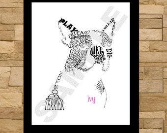 Boston Terrier Typography