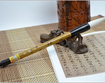 Free Shipping 6.5x1.5x23.5cm Long Tip Pure Goat Hair Brush / SHYN / DB - Bamboo Handle - Oriental Calligraphy Painting - 0020
