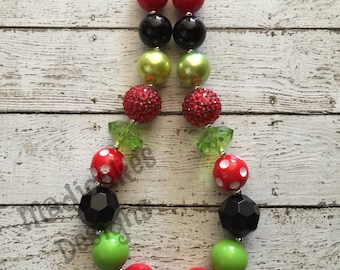 Watermelon Chunky Bubblegum Necklace