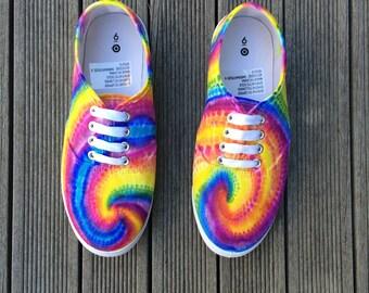 Custom Made Tie Dye Rainbow Shoes