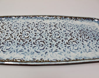 Platter,Serving Platter,Ceramic Tray,Serving Tray,Decorative Tray,Decorative Platter,Fish Platter,Cheese Board,Charcuterie Tray,Candle Tray