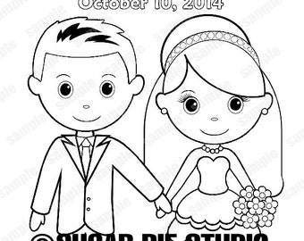 wedding coloring books template - Muck.greenidesign.co