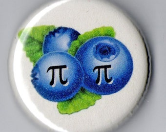 Blueberry Pi Geek Humor   1.25 inch Button