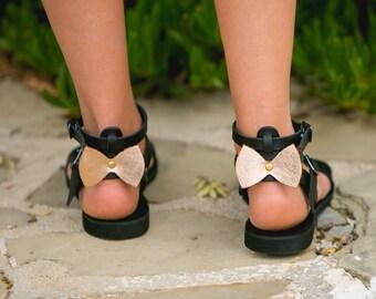 Sandals,Greek sandals,Ankle strap sandals,Leather sandals,Elegant sandals,Flat sandals,Bow tie,Women shoes,Triskelion,URANIA