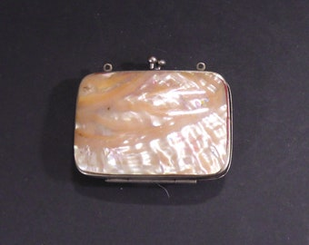 Antique mother of pearl change purse