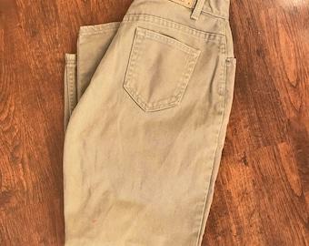 Vintage Liz Claiborne tan mom jeans