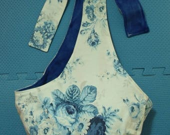 sling-sanctuary roses with blue fleece