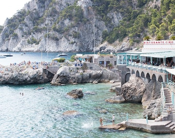 Italy Photography, Dive right in, Amalfi Coast, Italy, beach photography, Italian home decor, Beach, bedroom art, summer in amalfi