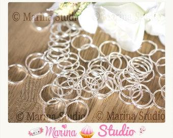 5 rings 7mm plated silver Sterling 925th - jump rings - jump rings