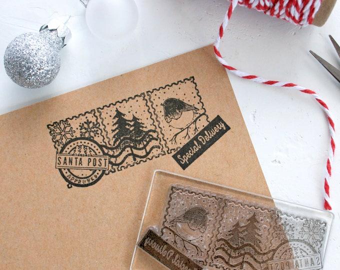 Santa Post - Santa Stamp - From Santa - Father Claus Stamp - Santa Stocking Stamp - Santa Post Stamp - Naughty or Nice
