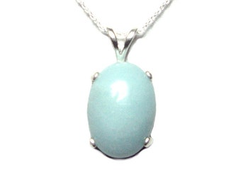 Larimar sterling silver pendant with chain