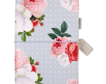 Websters Pages Soft Grey Floral Standard size Travelers Notebook
