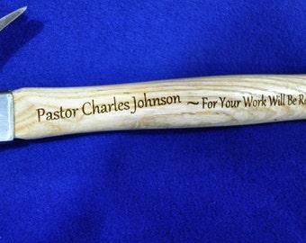 Gift For Pastor ~ Gift For Clergy ~ Gift For Priest ~ Engraved Hammer ~ Christian Gift ~ Bible Verse ~ Engraved Christian Gift ~ Church Gift