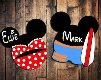 Custom Disney Cruise Mickey Magnets Mickey Mouse beach castaway cay swimsuit mickey
