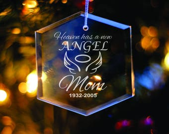 In Memory Ornament - Personalized Glass Ornament - Christmas Decoration - Xmas Tree Decor - Memorial Gift - Sympathy Gift - In Memory of