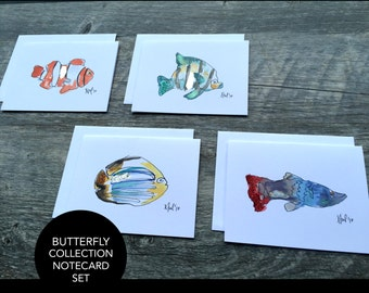 Aquatic Collection Notecard Set (4)