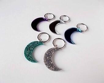 Crescent Moon Key Chain, Celestial Favors, Acrylic Wedding, Birthday Party Gifts, Moon Key Ring, Celestial Wedding