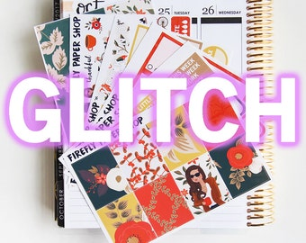 GLITCH - Fall Day Weekly Kit (Erin Condren Life Planner - Vertical)