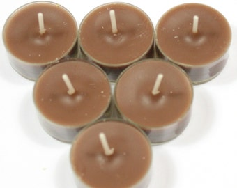 Coffee Mocha Handmade Premium Quality Highly Scented 6 Tea Light Candles