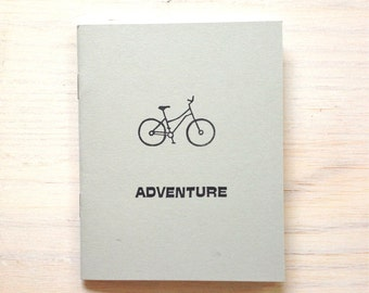 Medium Notebook: Adventure, Bike, Bicycle, Kids, Grey, Stocking Stuffer, Wedding Journal, Wedding, Favor, Journal, Unique, Notebook O205/378