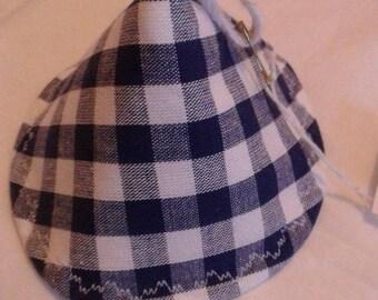 Blue gingham Hat Potholder