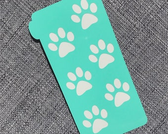 Makeup Swatch Stencil - Paw #01 (SMALL)