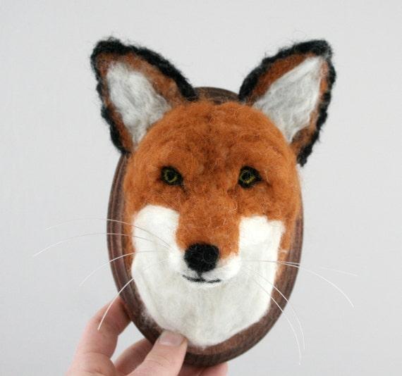 Faux Taxidermy Fox (Vulpes vulpes)