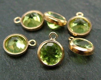 Gold Filled Peridot Charm 6mm