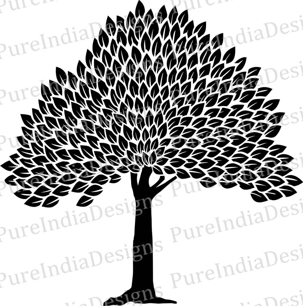 Baum Svg Wandkunst Baum des Lebens DXF EPS digitale