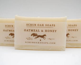 Handcrafted Oatmeal & Honey Scented Soap Bar