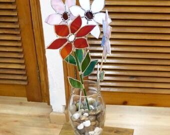 Vase decorative Trencadís. Flowers style Tiffanys