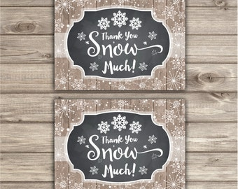 Thank You Cards snowflake winter