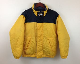 Vintage reversible NAUTICA COMPETITION sailing gear spellout jacket GSrHR6y