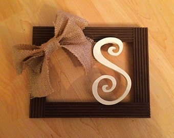 S Initial Decorative Frame