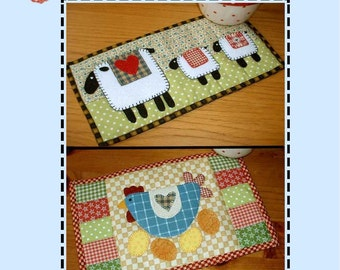Spring Chicken and Spring Lambs Pattern Pack - Two Mug Rug Patterns from the Patchsmith