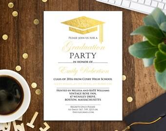 Graduation invitation template, college graduation announcement, graduation party, graduation centerpiece, high school graduation invitation