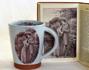 Jane Eyre mug, handmade, Charlotte Bronte, Jane Eyre, literary gift, bookish gift, handmade mug , book lovers gift, mother's day gift
