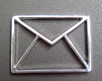 Origami envelope 31x23mm silver letter charm