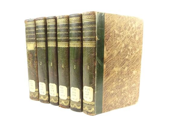 1778-79, Christian Institutes of Antiquity (in Latin), Antiquitatum Christianarum Institutiones, Giulio Lorenzo Selvaggio