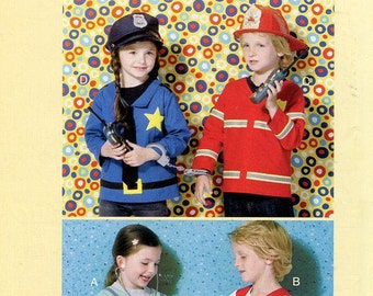 FREE US SHIP Kwik Sew 4024 Kids Boy Girl Halloween Costume Jacket Dr. Fireman Sailor Policeman Size 3 4 5 6 8 10 Sewing Pattern Out of Print