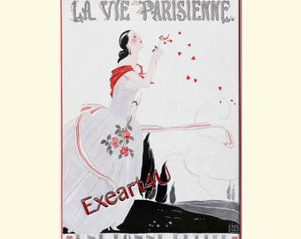 Leonnec Love Romance Hearts Art Deco Picture Scene Mode Fashion Beauty Print